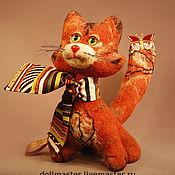 Куклы и игрушки ручной работы. Ярмарка Мастеров - ручная работа Кошка Рикель. Handmade.
