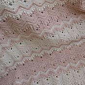 """Для дома и интерьера ручной работы. Ярмарка Мастеров - ручная работа Плед """"Зефир бело-розовый"""". Handmade."""