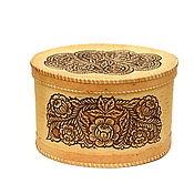 Для дома и интерьера handmade. Livemaster - original item Box of birch-bark, big Rose. Box for storage.. Handmade.