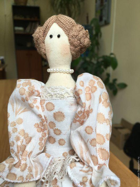 Куклы Тильды ручной работы. Ярмарка Мастеров - ручная работа. Купить Интерьерная кукла Анастасия. Handmade. Бежевый, кукла, лён