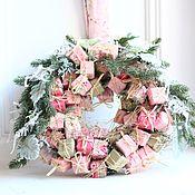 Подарки к праздникам ручной работы. Ярмарка Мастеров - ручная работа Розовый шебби веночек. Handmade.