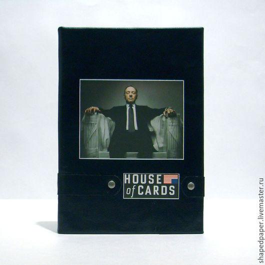 """Блокноты ручной работы. Ярмарка Мастеров - ручная работа. Купить """"Карточный домик"""" / """"House of cards"""", блокнот ручной работы.. Handmade."""