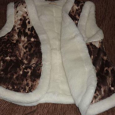 Одежда ручной работы. Ярмарка Мастеров - ручная работа Жилет меховой р.50-52 шерсть овечья. Handmade.