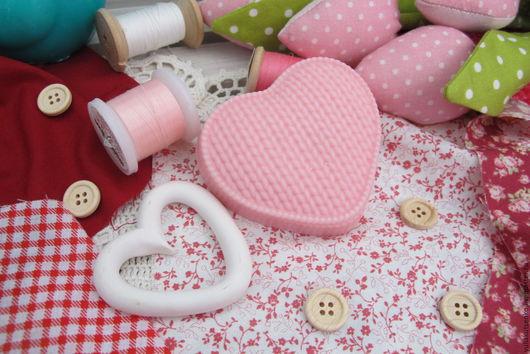 """Мыло ручной работы. Ярмарка Мастеров - ручная работа. Купить Мыло """"Вязаное сердце"""". Handmade. Бледно-розовый, мыло, сердечко"""