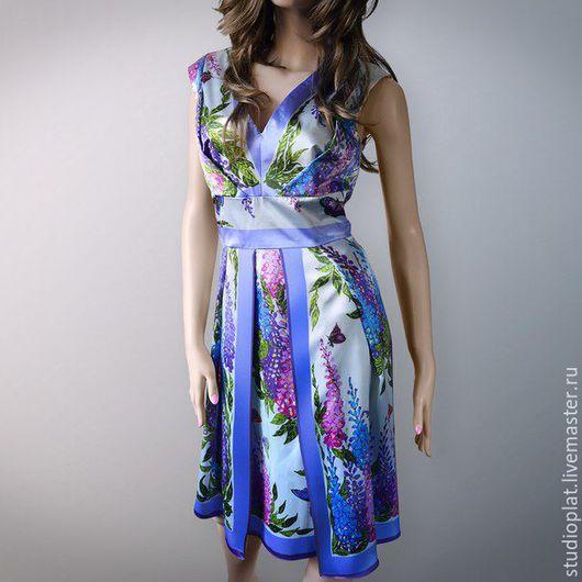Эксклюзивное платье Дарина сирень