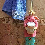 Куклы и игрушки ручной работы. Ярмарка Мастеров - ручная работа Тильда Ангел- хранительница ватных палочек и дисков. Handmade.