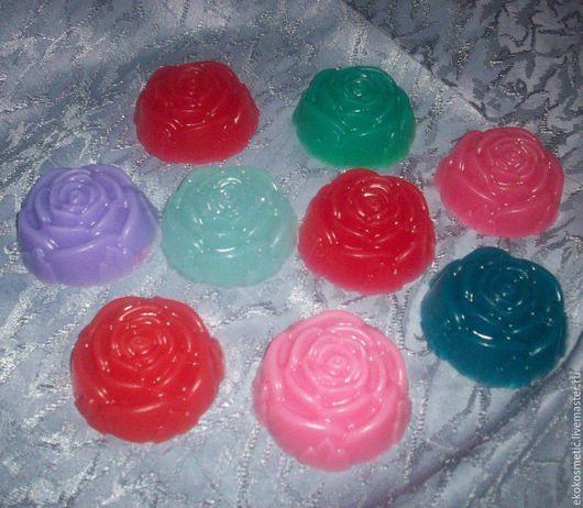 Мыло ручной работы. Ярмарка Мастеров - ручная работа. Купить Мыло Роза. Handmade. Ярко-красный, мыло роза