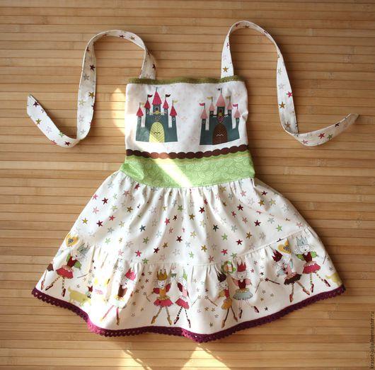 Одежда для девочек, ручной работы. Ярмарка Мастеров - ручная работа. Купить Сарафан для Девочки Принцессы - Феи Замки. Handmade. Белый
