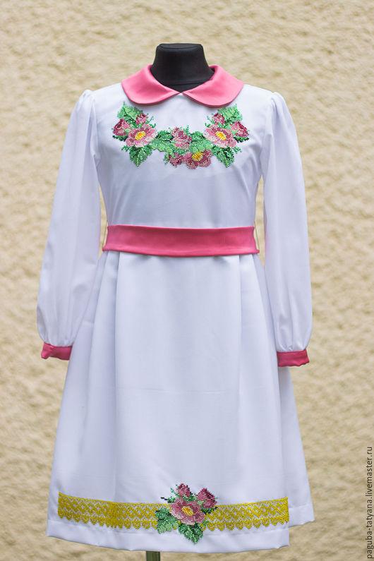 """Одежда для девочек, ручной работы. Ярмарка Мастеров - ручная работа. Купить Платье """"Розовые цветы"""". Handmade. Платье для девочки"""