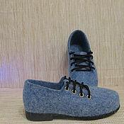 Обувь ручной работы. Ярмарка Мастеров - ручная работа Войлочные туфли Снежные. Handmade.