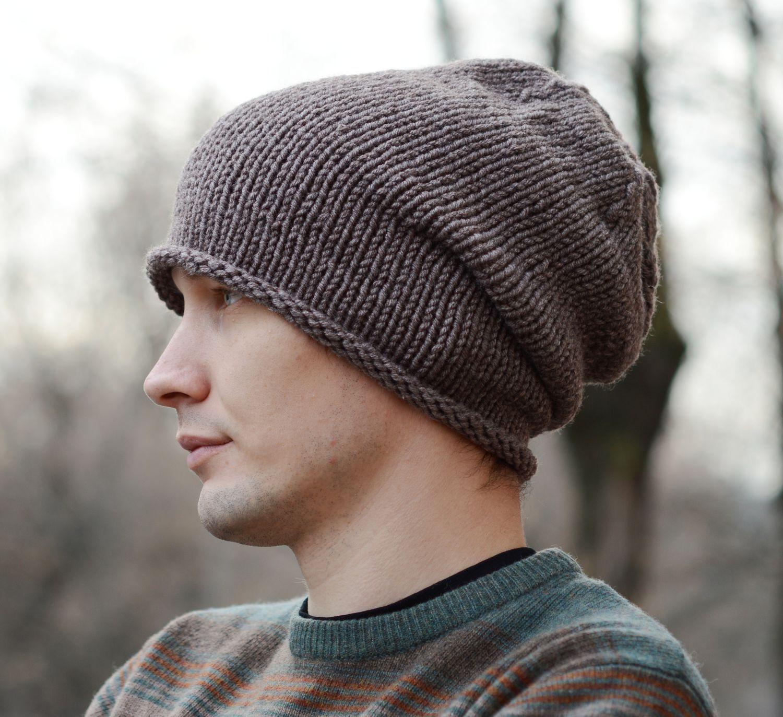 Новое в вязание мужских шапок 3