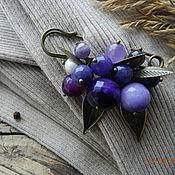"""Украшения ручной работы. Ярмарка Мастеров - ручная работа """"Violet"""" булавка (аметист, агат). Handmade."""