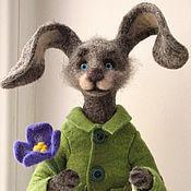 Куклы и игрушки ручной работы. Ярмарка Мастеров - ручная работа Мартовский заяц.Игрушка из шерсти.. Handmade.