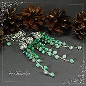 Украшения handmade. Livemaster - original item Set of earrings and pendant from agate