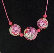Украшения handmade. Livemaster - original item A set of jewelry painted. Handmade.