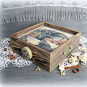 Для дома и интерьера handmade. Livemaster - original item Serving box tray