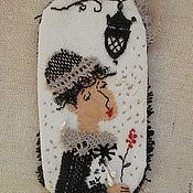 Украшения ручной работы. Ярмарка Мастеров - ручная работа Брошь текстильная Мечты. Handmade.