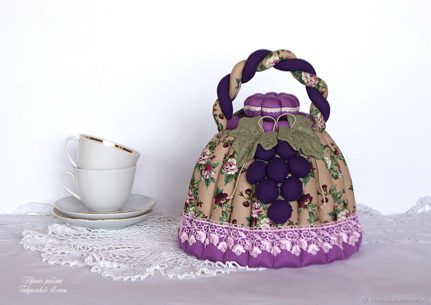 Hot water bottle for the kettle Isabella. Lilac, purple, kitchen decoration, Kettle Warmers, Magnitogorsk,  Фото №1