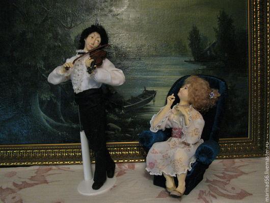 """Коллекционные куклы ручной работы. Ярмарка Мастеров - ручная работа. Купить Кукольная композиция """"Рапсодия"""". Handmade. Разноцветный, семья"""