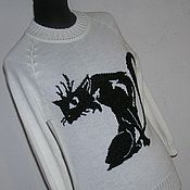 Одежда ручной работы. Ярмарка Мастеров - ручная работа Джемпер Black cat. Handmade.