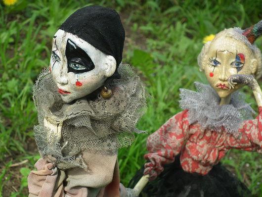 Коллекционные куклы ручной работы. Ярмарка Мастеров - ручная работа. Купить Pierrot & Pierrette. Handmade. Коллекционная кукла, дерево