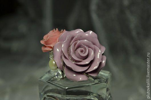 Кольца ручной работы. Ярмарка Мастеров - ручная работа. Купить Кольцо с жемчугом Донна Роза, размер 17,00. Handmade.