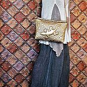 Сумки и аксессуары handmade. Livemaster - original item Handbag clutch lizard gold. Handmade.