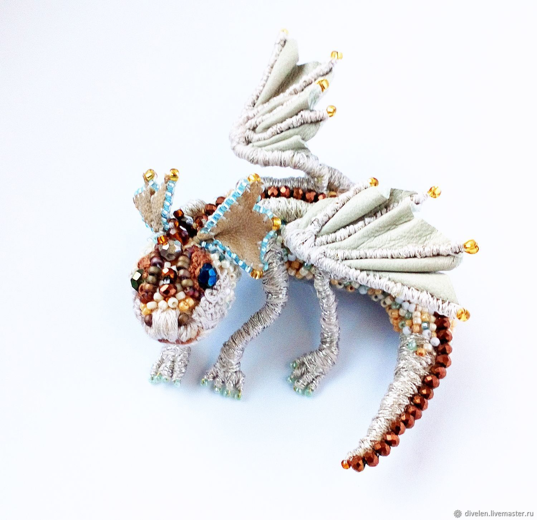 Dragon BENJAMIN VTOROJ.for Gillian Author brooch, Brooches, Divnogorsk,  Фото №1