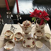 Винтаж handmade. Livemaster - original item Tea set ROYAL ALBERT, bone China (England), rarity. Handmade.