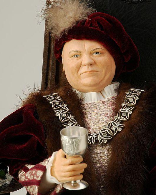 Портретные куклы ручной работы. Ярмарка Мастеров - ручная работа. Купить Портретная кукла Большое сердце. Handmade. Бордовый