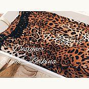 Одежда ручной работы. Ярмарка Мастеров - ручная работа смелое решение!платье леопардовой расцветки из новой коллекции... Handmade.