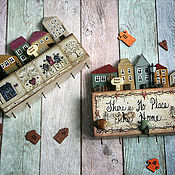 handmade. Livemaster - original item The housekeeper is a small provincial Town. The housekeeper decoupage. Handmade.