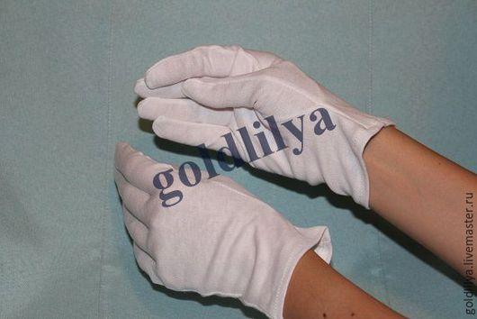 Другие виды рукоделия ручной работы. Ярмарка Мастеров - ручная работа. Купить Перчатки (хлопок) для косметических процедур. Handmade. Для кремоваров