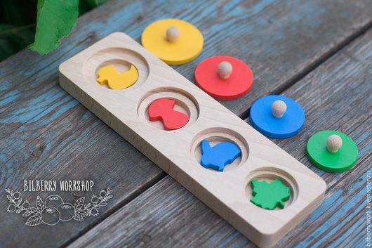 Развивающие игрушки ручной работы. Ярмарка Мастеров - ручная работа. Купить Блок с вкладышами-фигурками. Handmade. Комбинированный, развивающие игрушки
