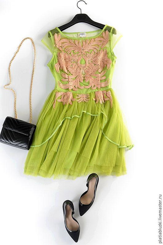 Платья ручной работы. Ярмарка Мастеров - ручная работа. Купить Платье с вышивкой. Handmade. Платье на выпускной, платье с пышной юбкой