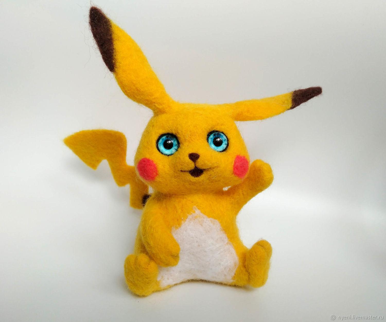 felt toy: Pokemon Pikachu, Felted Toy, Vyshny Volochyok,  Фото №1