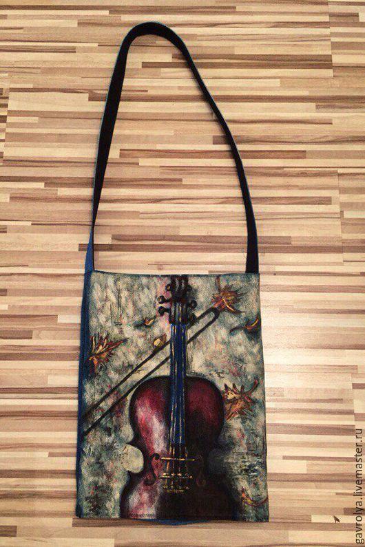 Женские сумки ручной работы. Ярмарка Мастеров - ручная работа. Купить Сумка женская. Handmade. Синий, рисунок