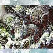 Подарки к праздникам handmade. Livemaster - original item Tapestry beaded SQUIRREL. Handmade.