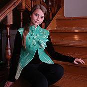 """Одежда ручной работы. Ярмарка Мастеров - ручная работа Жилет """"Зеленый рай"""". Handmade."""