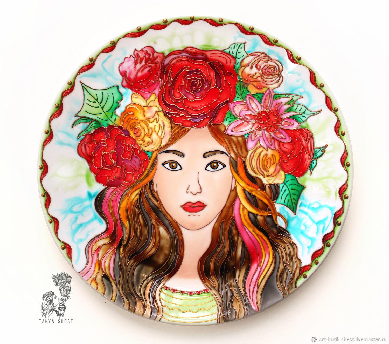 Decorative plate 'Spring' hand painted d25 cm, Plates, Krasnodar,  Фото №1
