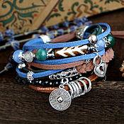 Bead bracelet handmade. Livemaster - original item Women`s bracelet on the arm of BOHO with a coil