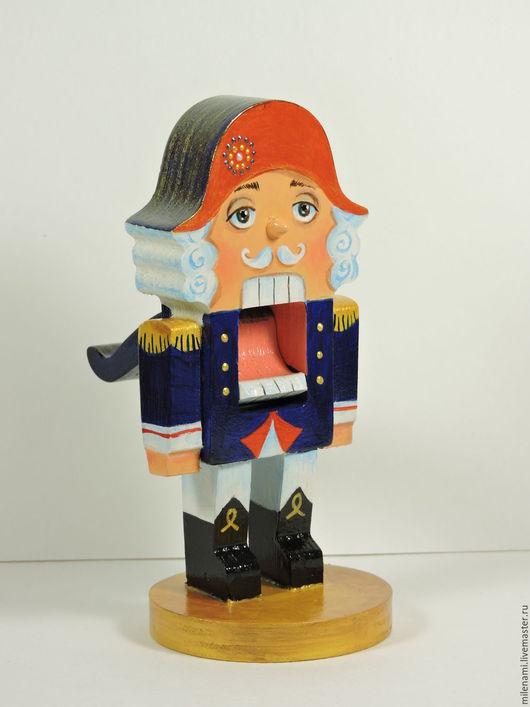 Кукла Щелкунчик, деревянная игрушка, новогодний подарок, кукла ручной работы, ручная роспись, авторская кукла, новый год