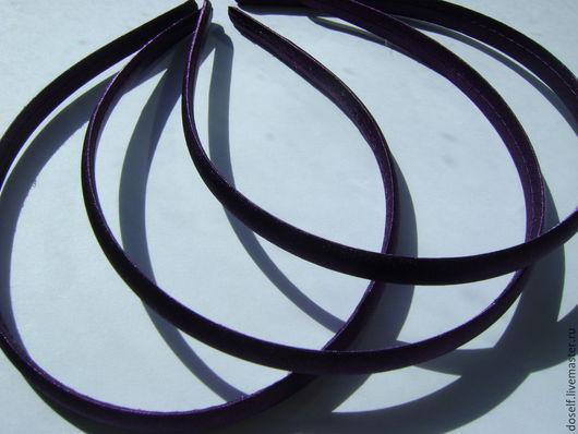 Для украшений ручной работы. Ярмарка Мастеров - ручная работа. Купить Тёмно-фиолетовая Основа для ободка в атласе 1см. Handmade.