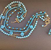 Украшения handmade. Livemaster - original item Necklace BLUE aquamarine quartz. Handmade.