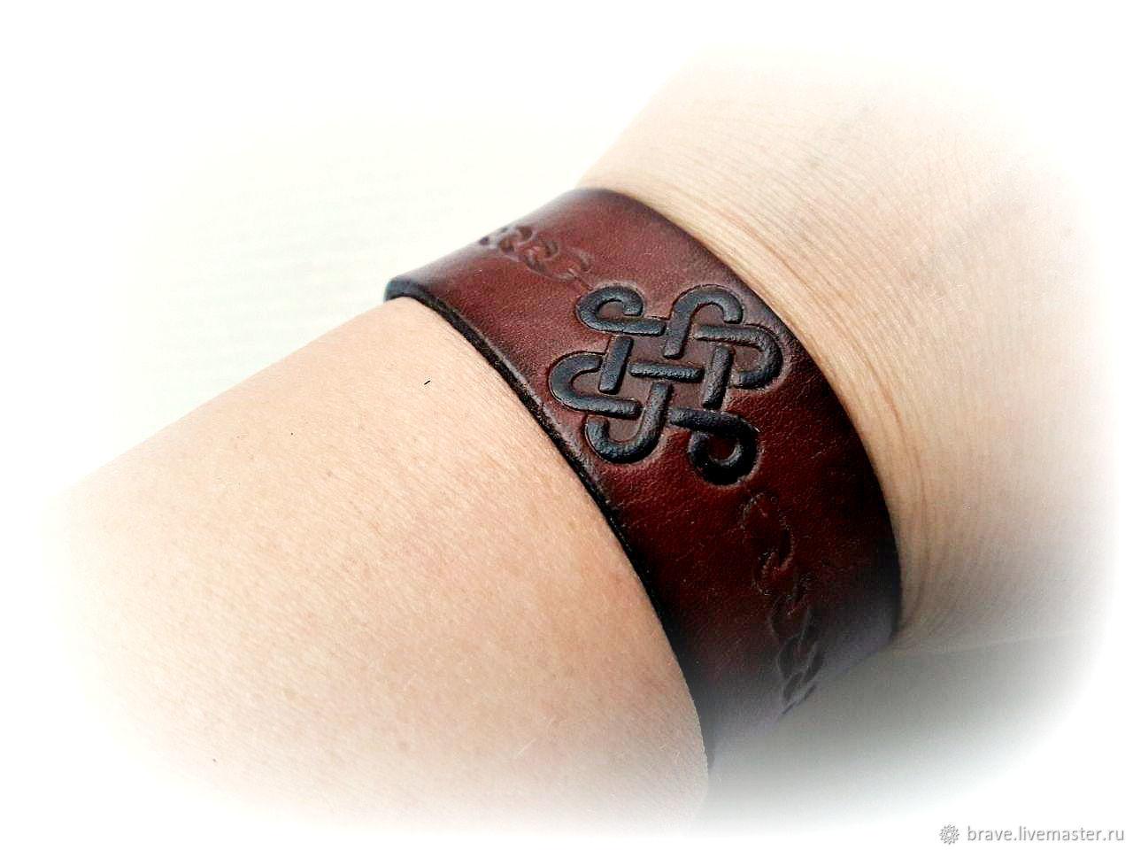 Men's infinity knot bracelet genuine leather, Hard bracelet, Moscow,  Фото №1