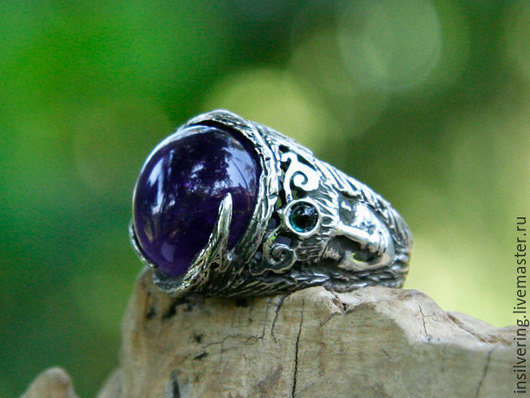 """Кольца ручной работы. Ярмарка Мастеров - ручная работа. Купить Кольцо """"Аврора"""" с аметистом. Handmade. Разноцветный, кольцо с камнем, аврора"""