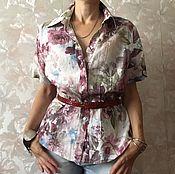 Одежда ручной работы. Ярмарка Мастеров - ручная работа Льняная блузка. Handmade.