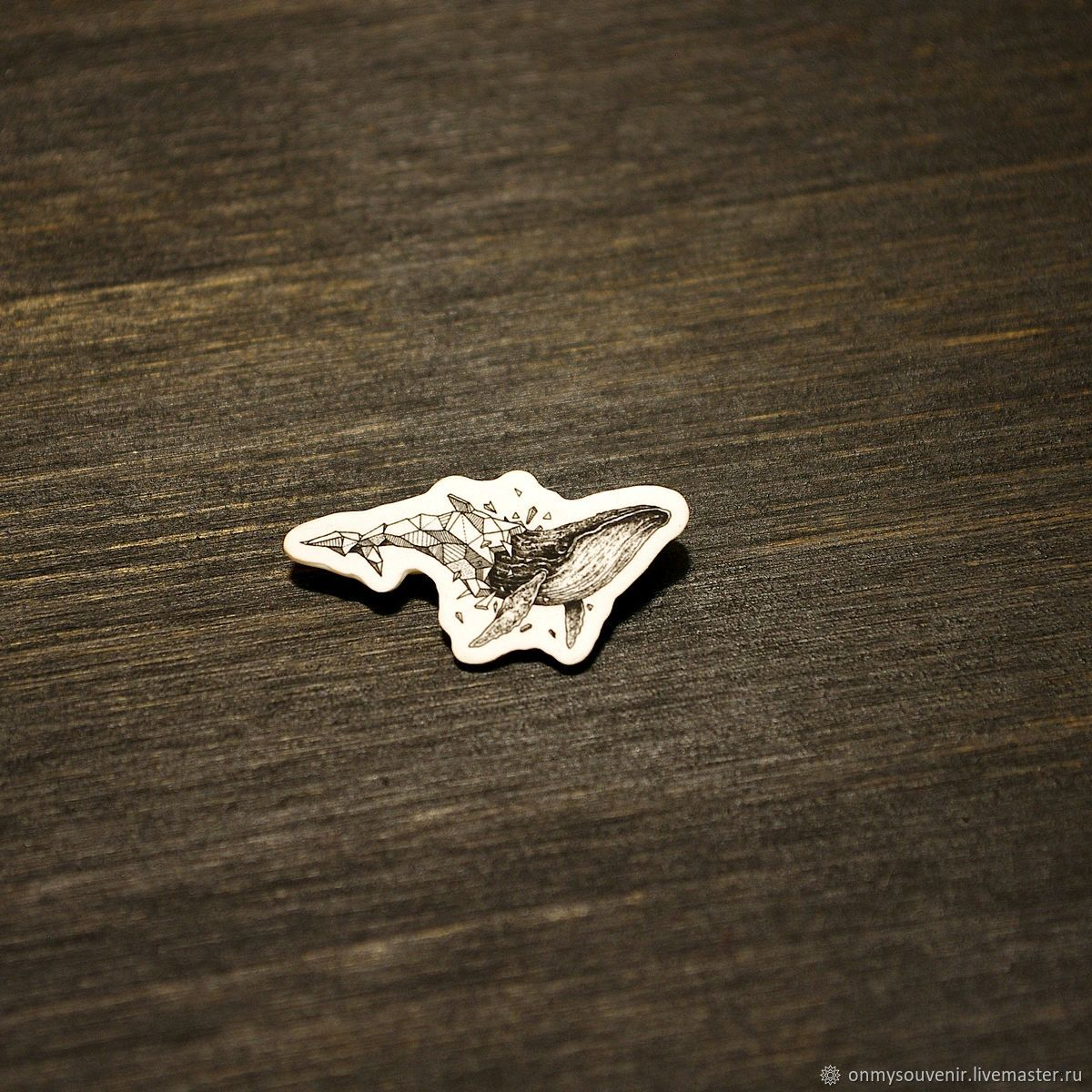 The 'whale' icon of the CB, Badge, Voronezh,  Фото №1