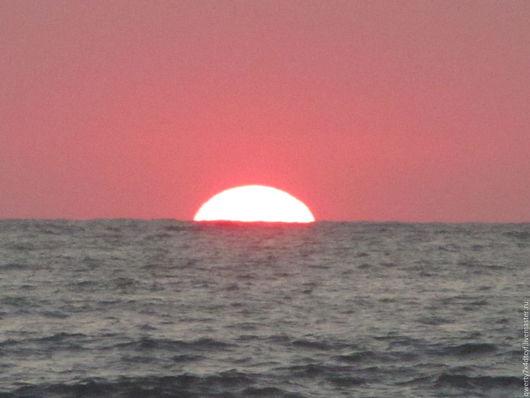 """Фотокартины ручной работы. Ярмарка Мастеров - ручная работа. Купить """"КОРАЛЛОВЫЙ  ЗАКАТ"""". Handmade. Коралловый, закат, Черное море, солнце"""