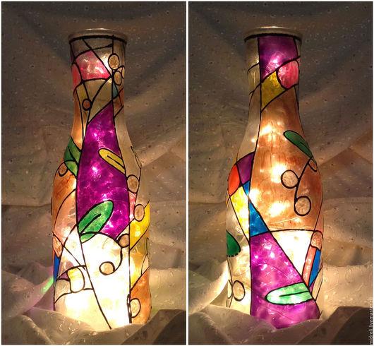 """Вазы ручной работы. Ярмарка Мастеров - ручная работа. Купить Ваза-светильник """"Зимние цветы"""". Handmade. Ваза, ваза для сухоцветов"""
